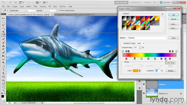 Creating a synthetic rainbow effect: Photoshop Masking and Compositing: Fundamentals