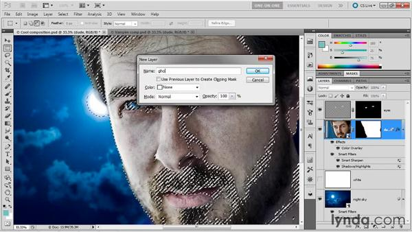Creating a layer of ghoulish skin: Photoshop Masking and Compositing: Fundamentals