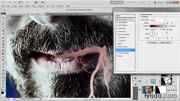Establishing trails of blood: Photoshop Masking and Compositing: Fundamentals