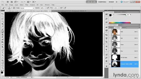Creating a hair-only mask: Photoshop Masking and Compositing: Fundamentals