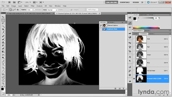 Using history to regain a lost mask: Photoshop Masking and Compositing: Fundamentals