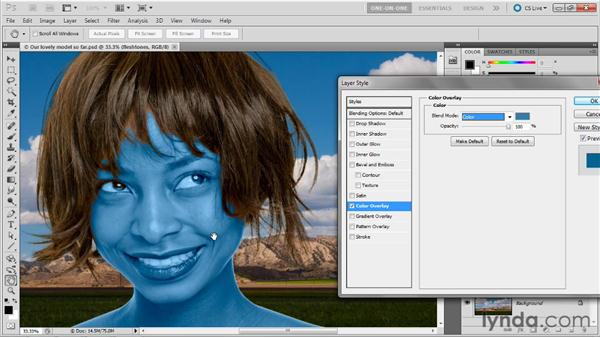 Adjusting a model's color temperature: Photoshop Masking and Compositing: Fundamentals