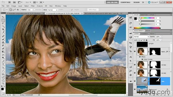 Extracting a mask from a Smart Object: Photoshop Masking and Compositing: Fundamentals