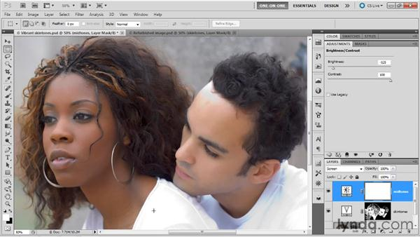 Generating a layer mask with Color Range: Photoshop Masking and Compositing: Fundamentals