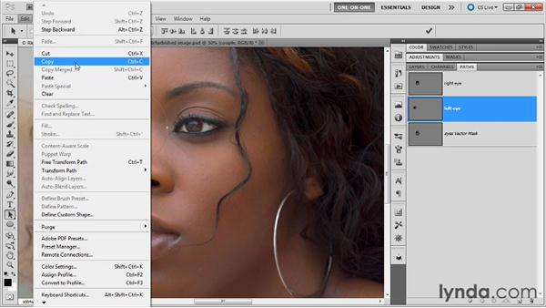 Combining paths into a single vector mask: Photoshop Masking and Compositing: Fundamentals
