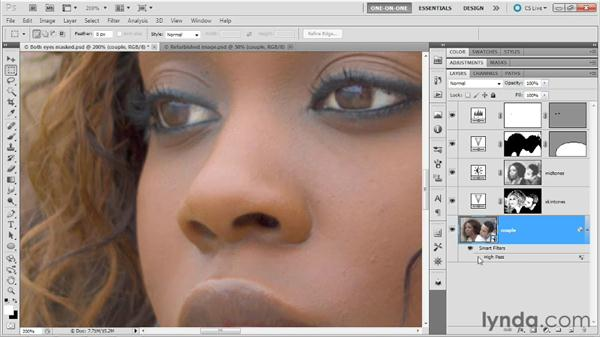 Sharpening detail, reducing color noise: Photoshop Masking and Compositing: Fundamentals