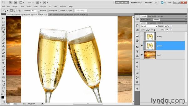Masking glass: Photoshop Masking and Compositing: Fundamentals