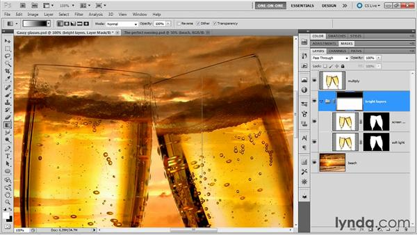 Masking multiple layers at one time: Photoshop Masking and Compositing: Fundamentals