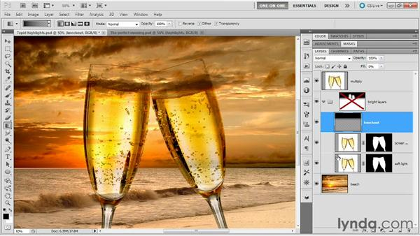 Establishing a knockout layer: Photoshop Masking and Compositing: Fundamentals