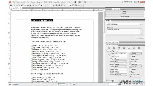 Using the Paragraph Designer: FrameMaker 10 Essential Training