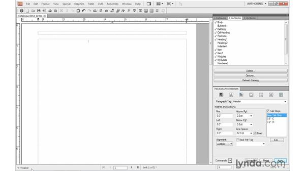 Working with master pages: FrameMaker 10 Essential Training