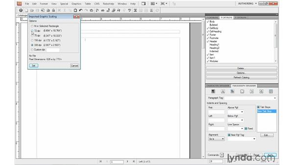 Importing graphics: FrameMaker 10 Essential Training