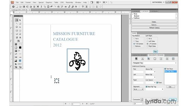 Manipulating graphic objects: FrameMaker 10 Essential Training