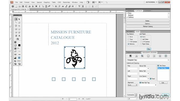Grouping graphic objects: FrameMaker 10 Essential Training
