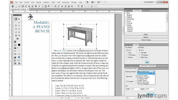 Editing anchored frames: FrameMaker 10 Essential Training