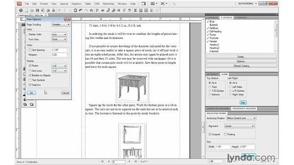 Hiding and showing graphics: FrameMaker 10 Essential Training