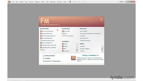 Creating a book file: FrameMaker 10 Essential Training