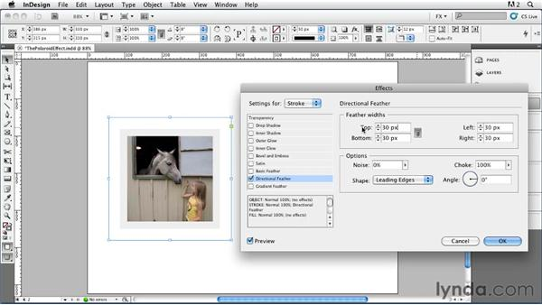 015 Simulating a Polaroid Effect: InDesign FX