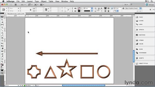 016 Creating Metallic Strokes: InDesign FX