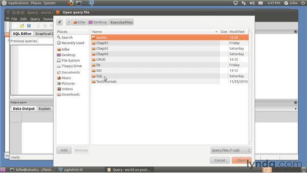 Installing PostgreSQL on Ubuntu Linux: PostgreSQL 9 with PHP Essential Training