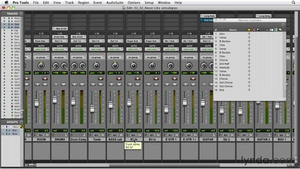 Setting up your subgroups: Audio Mixing Bootcamp