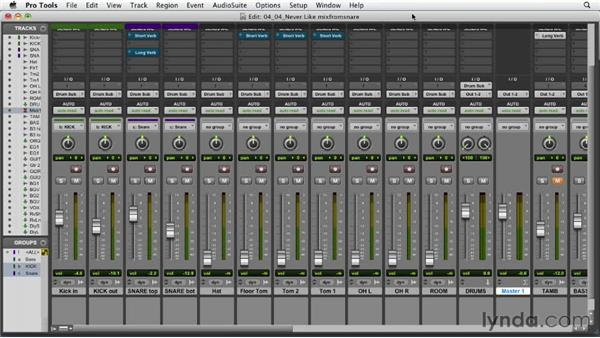 Building the mix from the snare: Audio Mixing Bootcamp
