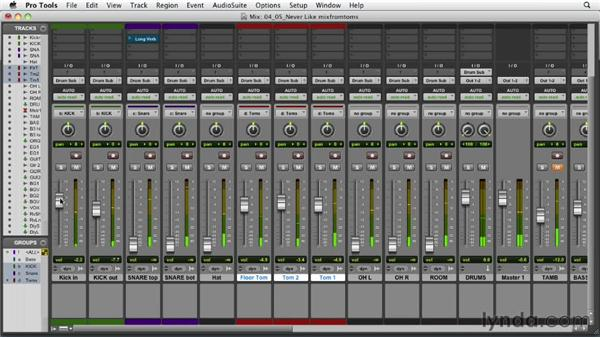Building the mix from the toms: Audio Mixing Bootcamp
