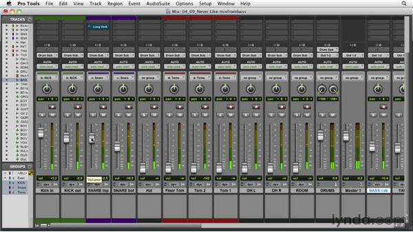 Building the mix from the bass: Audio Mixing Bootcamp