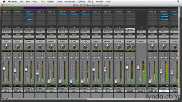 Building the mix from the vocals: Audio Mixing Bootcamp
