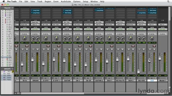 Balancing the rest of the instruments with the rhythm section: Audio Mixing Bootcamp