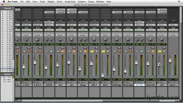 Balancing the harmony vocals: Audio Mixing Bootcamp