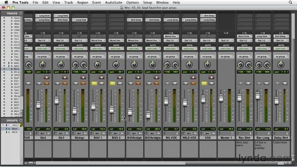 Looking at the three main panning areas: Audio Mixing Bootcamp