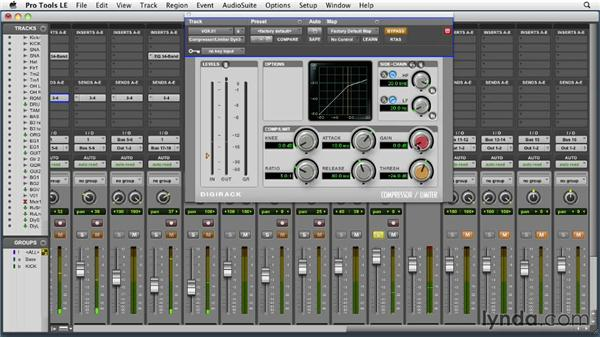 Setting up the compressor: Audio Mixing Bootcamp
