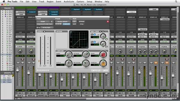 Compressing the room mics: Audio Mixing Bootcamp