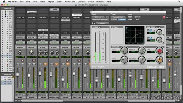 Compressing the bass: Audio Mixing Bootcamp