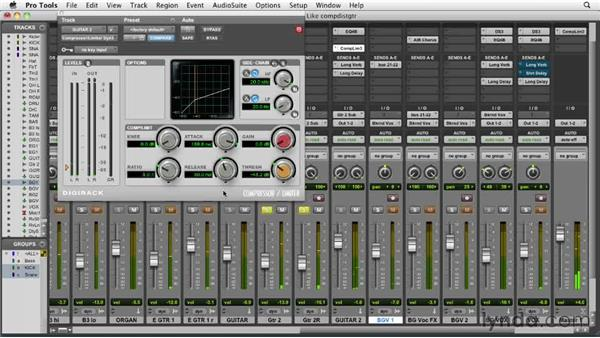 Compressing the distorted electric guitars: Audio Mixing Bootcamp