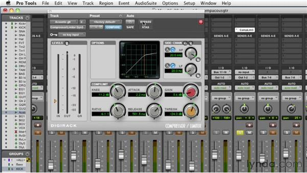 Compressing the acoustic guitars: Audio Mixing Bootcamp