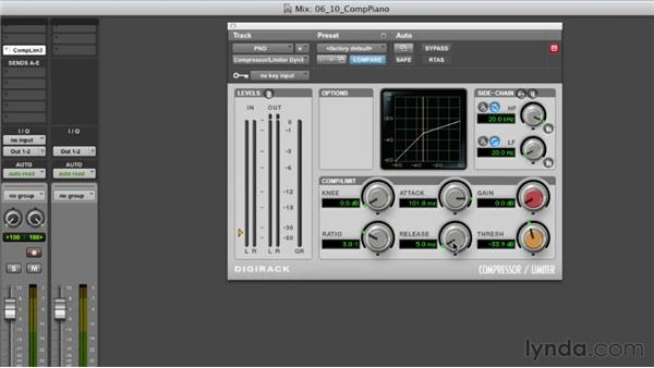 Compressing the piano: Audio Mixing Bootcamp