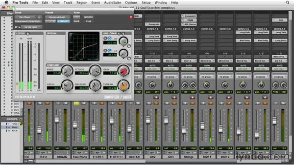 Compressing the electric keyboards: Audio Mixing Bootcamp