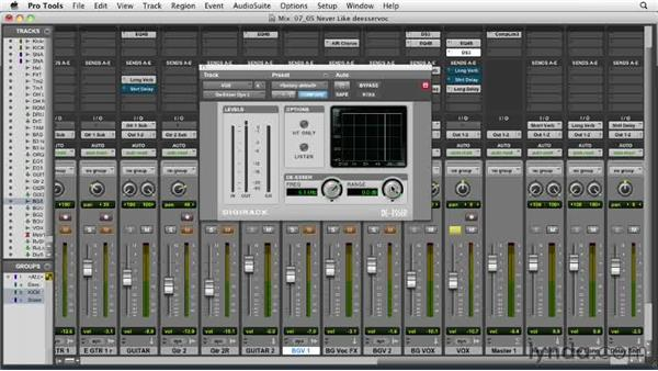 Using the de-esser on vocals: Audio Mixing Bootcamp