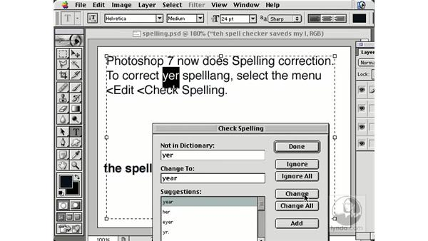 spell checking: New in Photoshop 7