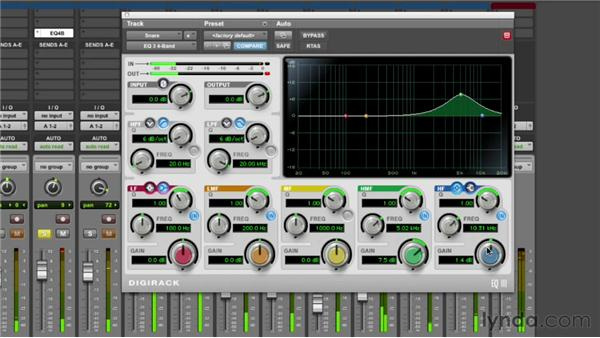Equalizing the snare: Audio Mixing Bootcamp