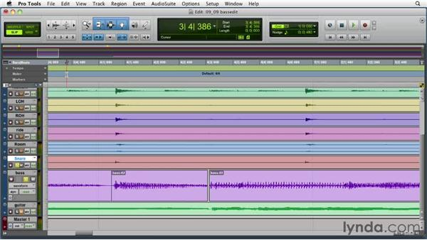Editing the bass rhythm: Audio Mixing Bootcamp