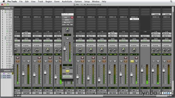 Using the three-reverb setup: Audio Mixing Bootcamp