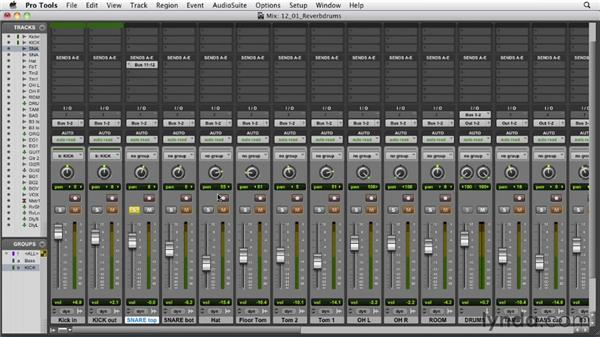 Adding reverb to the drums: Audio Mixing Bootcamp