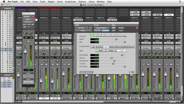 Adding reverb to the guitars: Audio Mixing Bootcamp