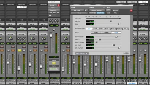 Adding reverb to the strings: Audio Mixing Bootcamp