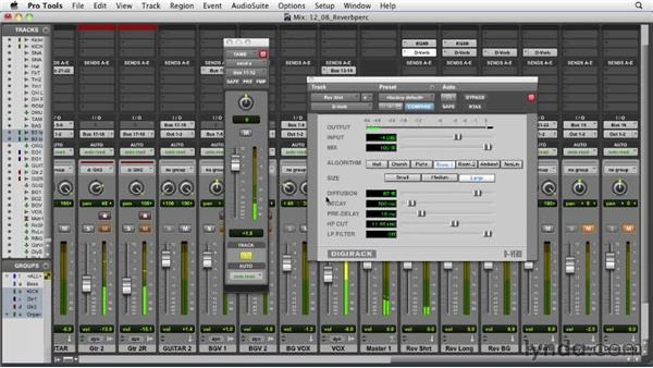 Adding reverb to the percussion: Audio Mixing Bootcamp