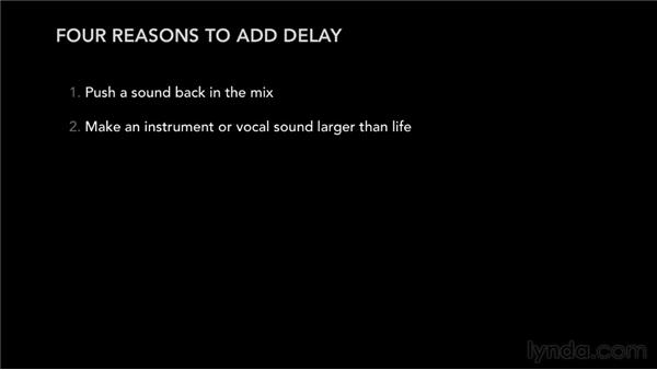 Learning delay principles: Audio Mixing Bootcamp