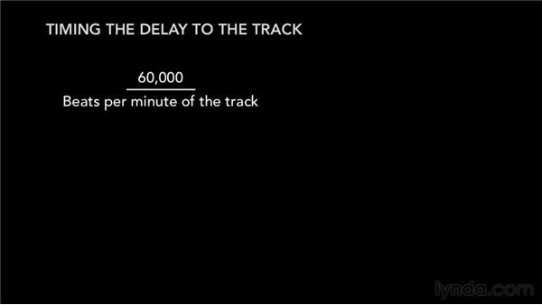 Timing the delay to the track: Audio Mixing Bootcamp